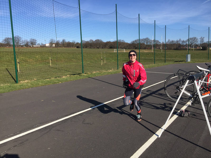 Motivated to exercise - Louise out running